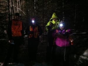 Volunteers at trail exit