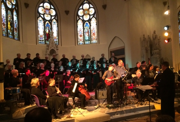 Sacred heart during concert